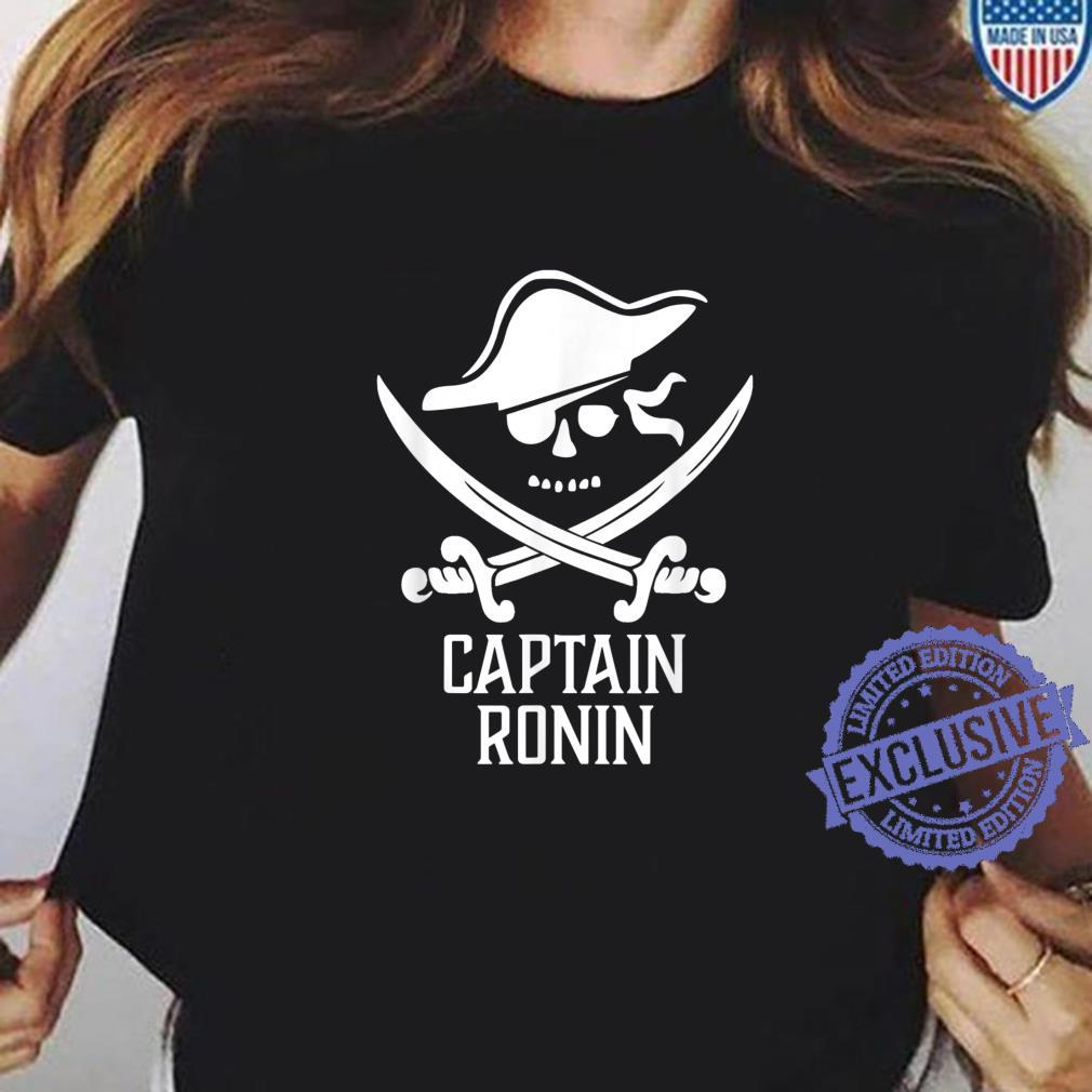 Captain RONIN Personalized Pirate Shirt ladies tee