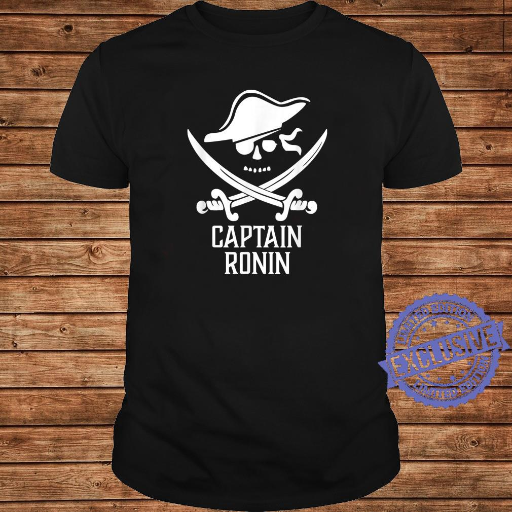 Captain RONIN Personalized Pirate Shirt long sleeved