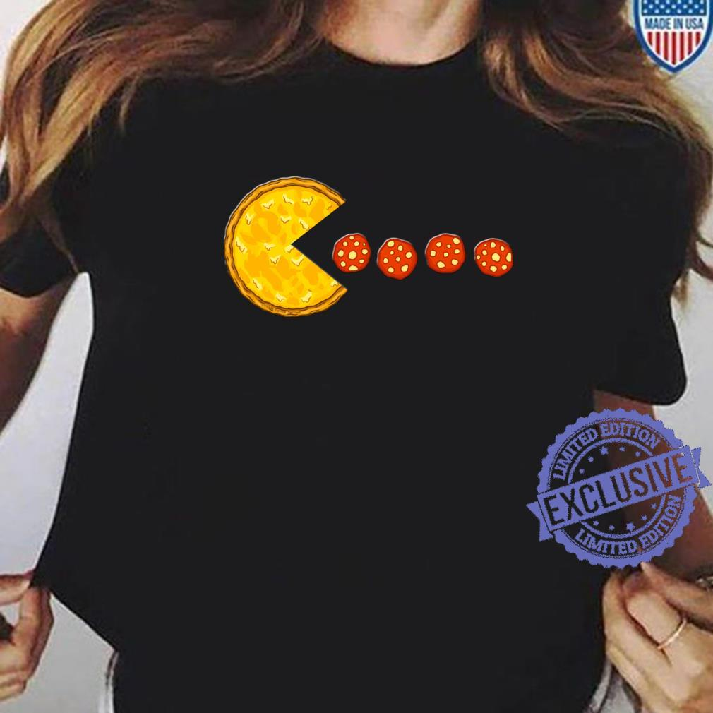 Funny Pizzas Pizza Eating Pepperoni Pizza Shirt ladies tee
